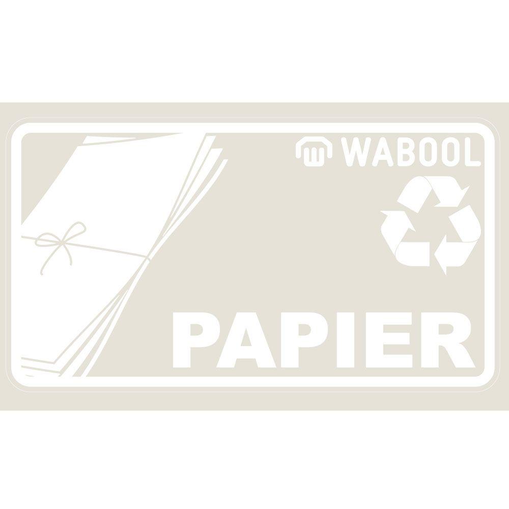 Kleber «PAPIER» 18 x 10 cm