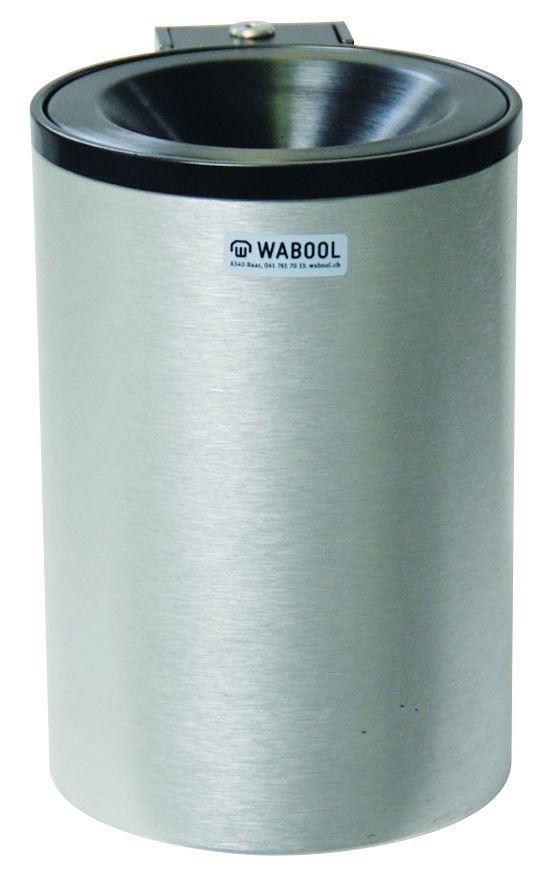 Wand-Aschenbecher Leichtmetall, gross /N