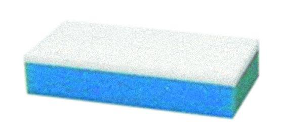 Fleckenradierer gepresst mit Schaumstoffschwamm