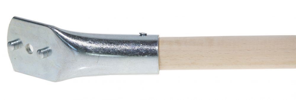 Holzstiel mit Nockenhalterung schräg