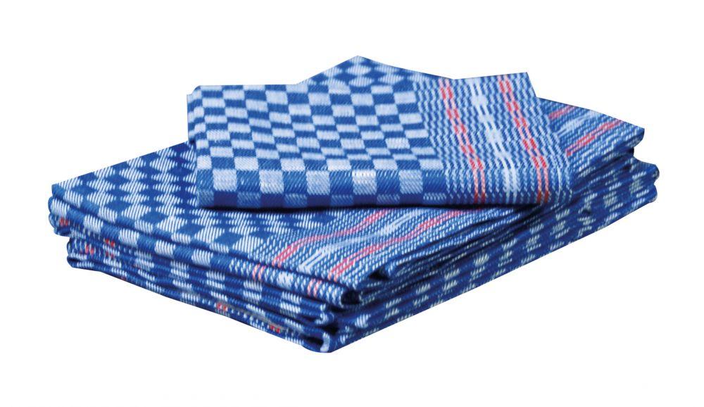 Werkstatt - Handtuch blau-kariert