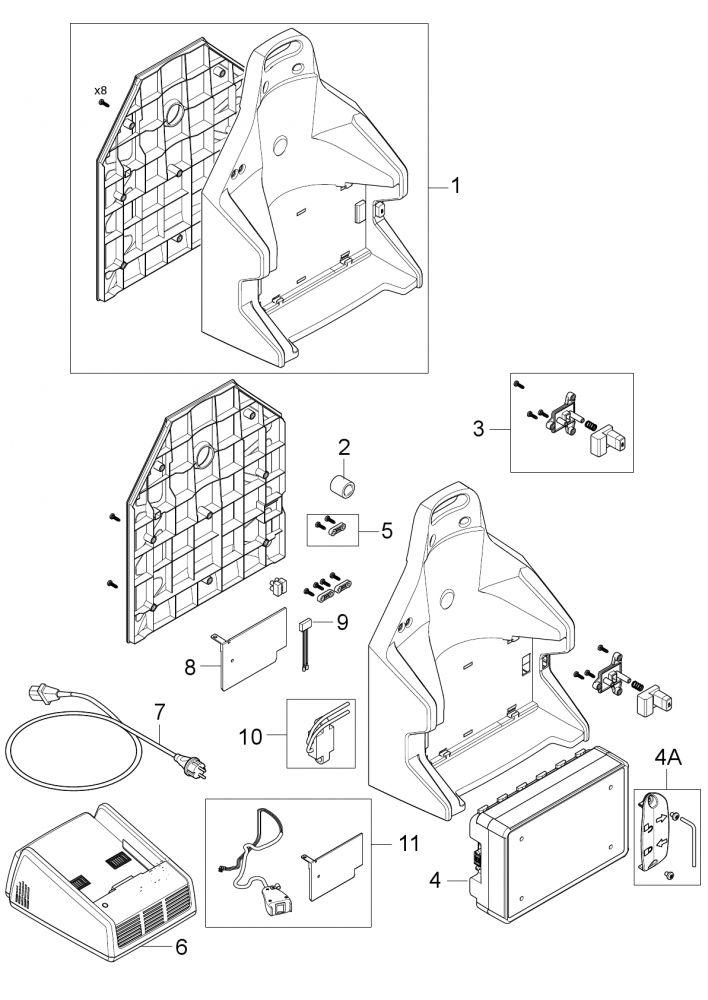 Nilfisk Rückensauger GD 5 Batterie /N