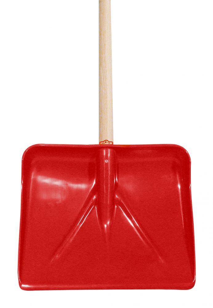 Schneeschaufel Kunststoff rot