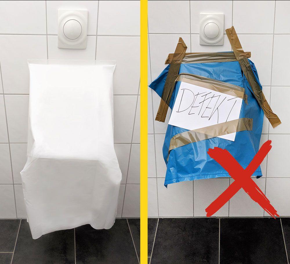 professionelle Urinalabdeckung