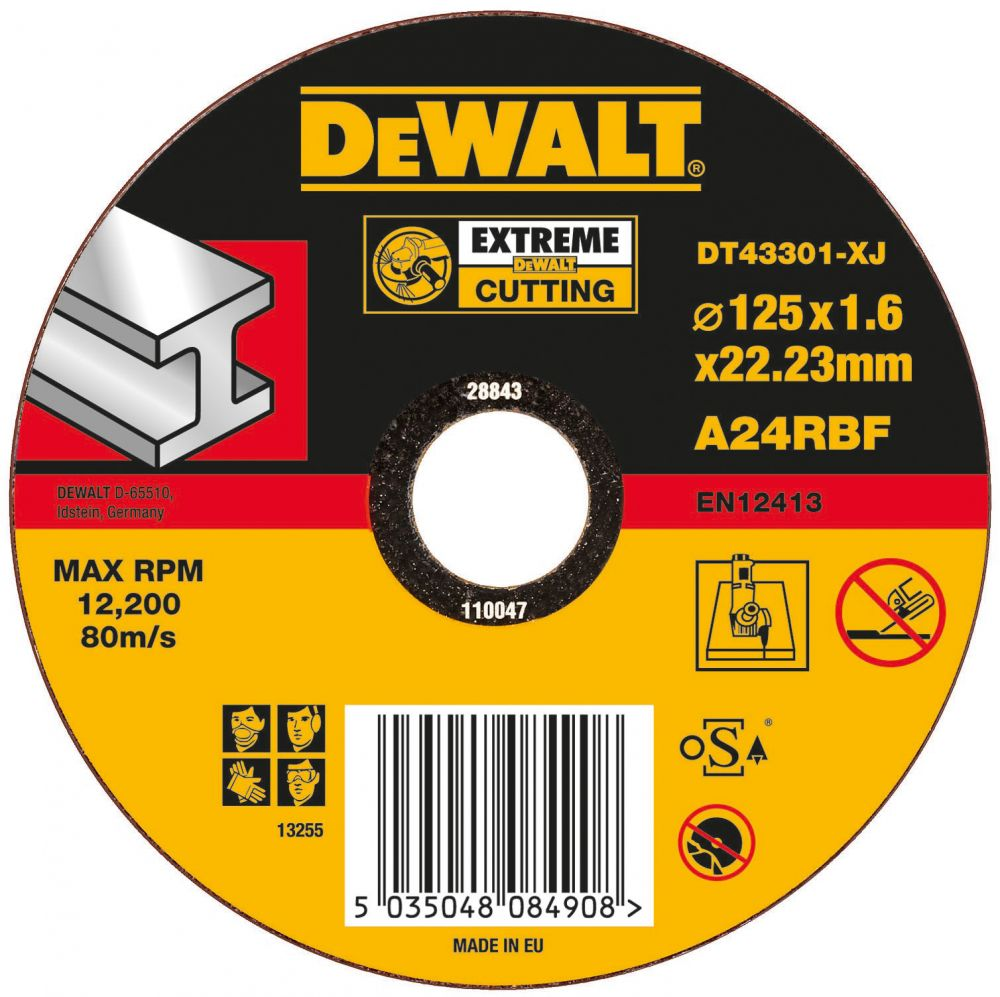 DeWalt Trennscheibe Metall flach 125 mm /N