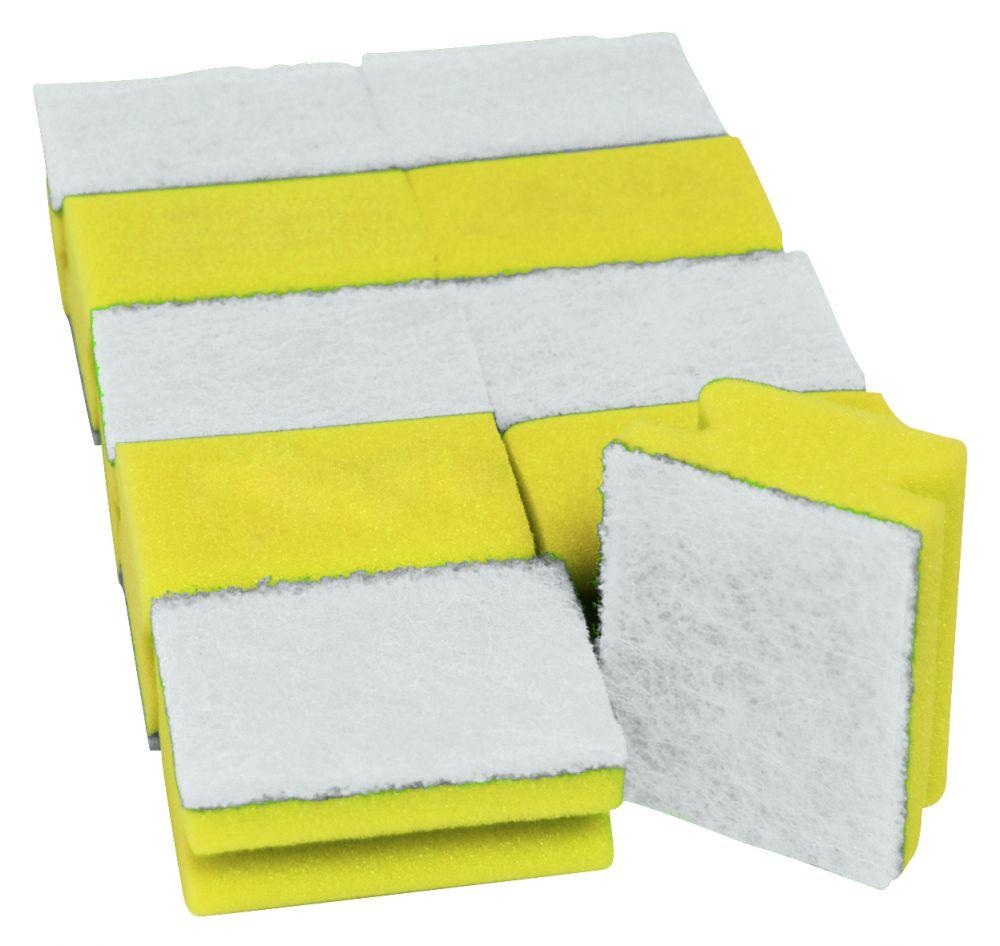 Pad-Schwämme Mini gelb/weiss